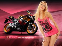 Bike And Girl Wallpaper (4)